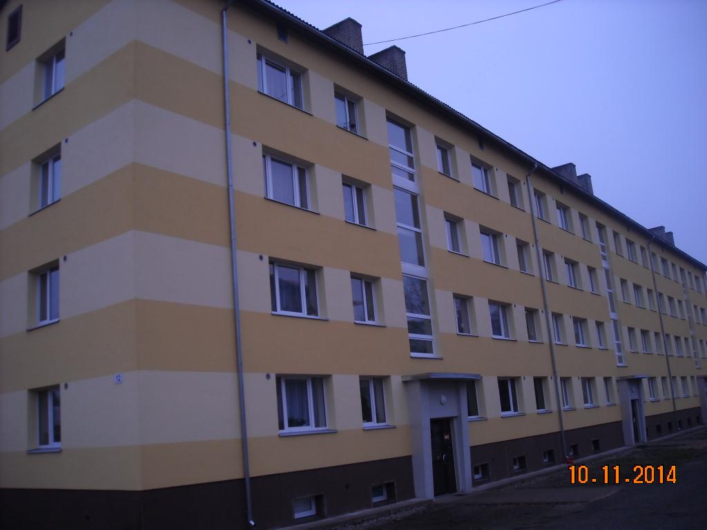 Soojustatud ja uuendatud küttesüsteemiga korterelamu